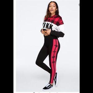 NWT VS PINK High Waist Cotton Color Block Legging